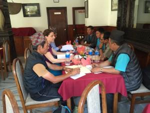 Meeting mit dem Kindergarten-Komitee in Kathmandu, 29.04.2016
