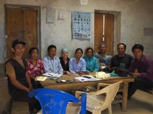 Treffen mit dem Kindergarten Komitee in Rapcha