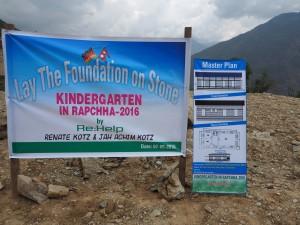 Grundsteinlegung des Rapcha Kindergartens